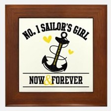 No. 1 Sailor's Girl Framed Tile