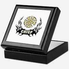 Fire Chief Tattoo Flames Keepsake Box