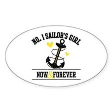No. 1 Sailor's Girl Oval Decal