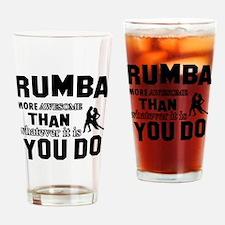 rumba dance design Drinking Glass