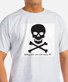 Pirate Skull - robbing since T-Shirt
