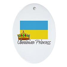 Ukrainian Princess Oval Ornament