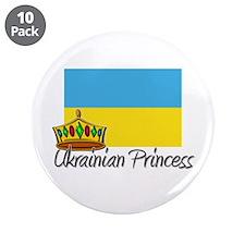 "Ukrainian Princess 3.5"" Button (10 pack)"
