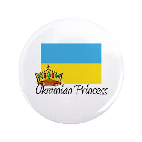 "Ukrainian Princess 3.5"" Button"