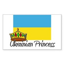 Ukrainian Princess Rectangle Decal