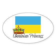 Ukrainian Princess Oval Decal
