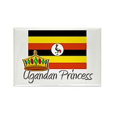 Ugandan Princess Rectangle Magnet