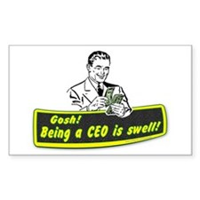 The CEO... Rectangle Decal