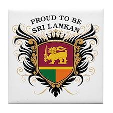 Proud to be Sri Lankan Tile Coaster