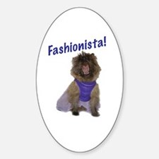 Cairn Terrier Fashionista Oval Decal