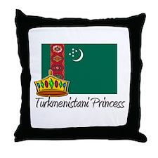Turkmenistani Princess Throw Pillow