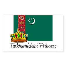 Turkmenistani Princess Rectangle Decal