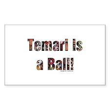 Temari is a Ball! Rectangle Decal