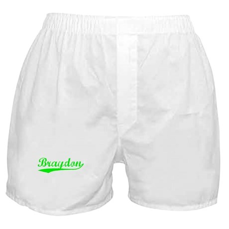 Vintage Braydon (Green) Boxer Shorts
