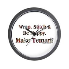 Wrap, Stitch, Be Happy Temari Wall Clock
