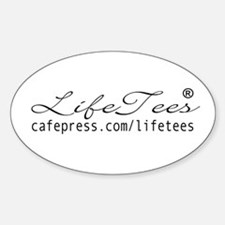 LifeTees Logo Oval Decal