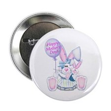 """Mother's Day Bunny 2.25"""" Button (10 pack)"""