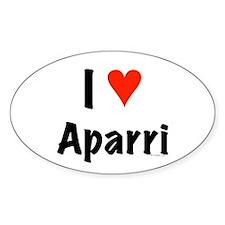 I love Aparri Oval Decal