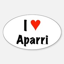 I love Aparri Oval Decal
