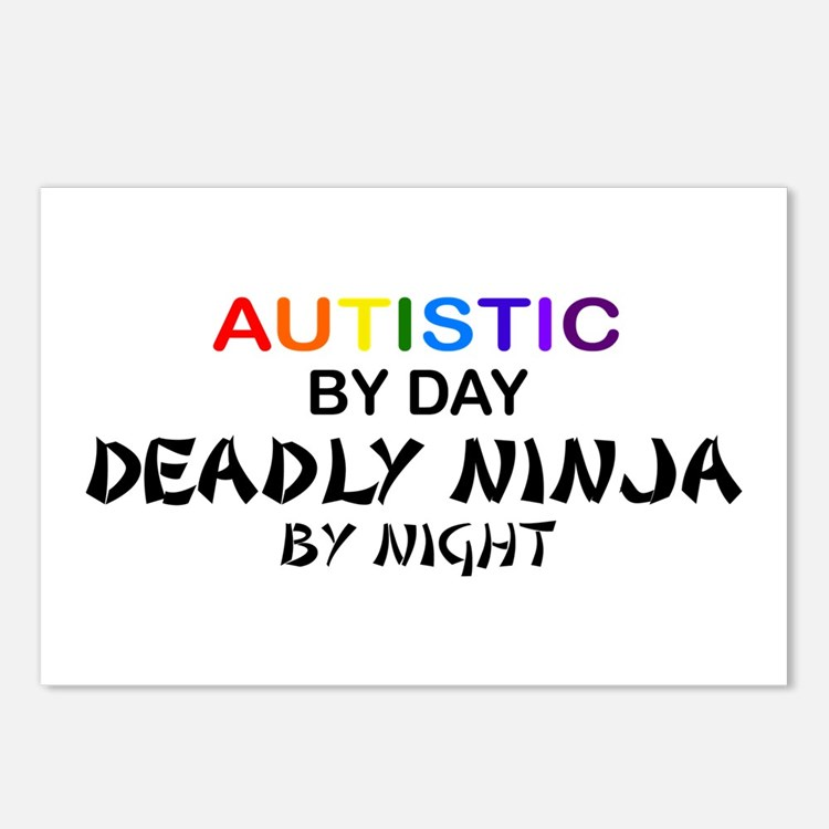 Autistic Deadly Ninja by Night Postcards (Package