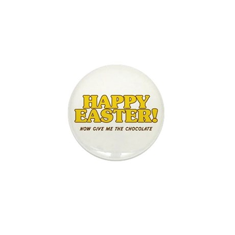 Happy Chocolate Easter Mini Button