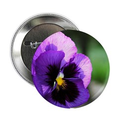 """Purple Pansy 2.25"""" Button (10 pack)"""