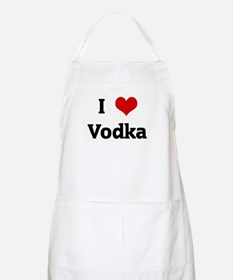 I Love Vodka BBQ Apron