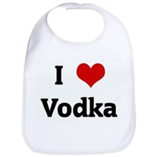 I Love Vodka Bib