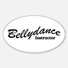 Bellydance Instructor Oval Decal