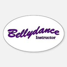 Instructor purple Oval Decal