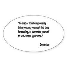 Confucius Reading Quote Oval Decal