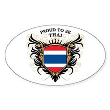 Proud to be Thai Oval Decal