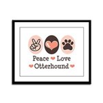 Peace Love Otterhound Framed Panel Print