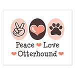 Peace Love Otterhound Small Poster