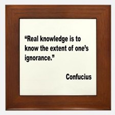 Confucius Real Knowledge Quote Framed Tile