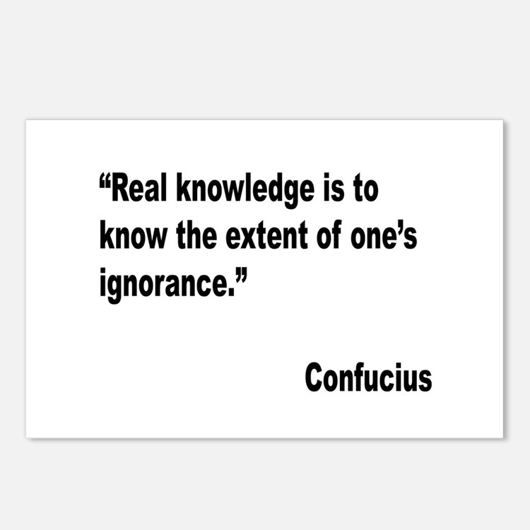 Confucius Real Knowledge Quote Postcards (Package