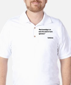 Confucius Real Knowledge Quote Golf Shirt