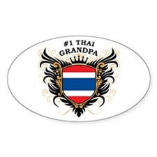 Number One Thai Grandpa Oval Decal
