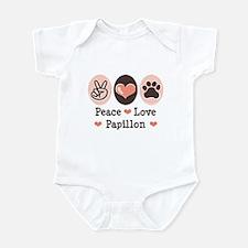 Peace Love Papillon Infant Bodysuit