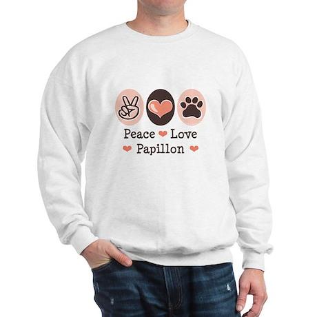 Peace Love Papillon Sweatshirt