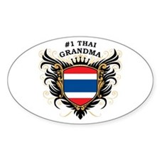Number One Thai Grandma Oval Decal