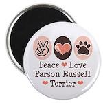 Peace Love Parson Russel Terrier Magnet