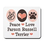 Peace Love Parson Russel Terrier Mousepad