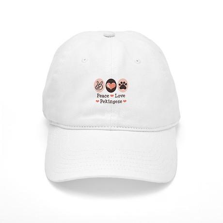 Peace Love Pekingese Cap