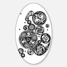 Celtic Clockwork Oval Decal