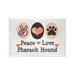 Peace Love Pharaoh Hound Rectangle Magnet
