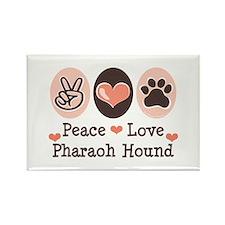Peace Love Pharaoh Hound Rectangle Magnet (10 pack