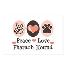 Peace Love Pharaoh Hound Postcards (Package of 8)