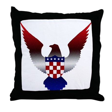 Croatian American Throw Pillow
