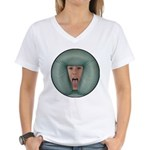 Tongue Massage Women's V-Neck T-Shirt
